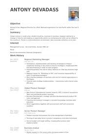 Online Marketing Manager Resume by Regional Marketing Manager Resume Samples Visualcv Resume