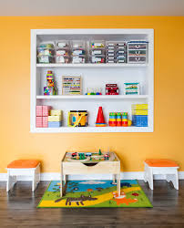 toy bin organizer in kids contemporary with new york apartment
