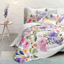 Wisteria Home Decor by Wisteria Duvet Floral Watercolour Bedding Bluebellgray Home