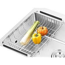 Amazoncom KOHLER MultiPurpose OvertheSink Drying Rack Caddy - Kitchen sink dish rack