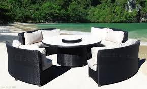 Resin Wicker Patio Furniture Sets - cassandra round outdoor wicker dining sofa set patio furniture