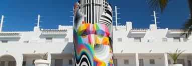 okuda san miguel filipe pantone give ibiza hotel a facelift