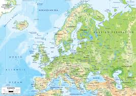 Map Of Western Europe by Physical Map Of Western Europe Thefreebiedepot