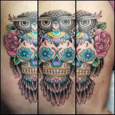 owl sugar skull tattoo on we heart it