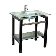 24 Inch Bathroom Vanity Combo by Glass Top 24 Inch Single Sink Bathroom Vanity With Mirror And