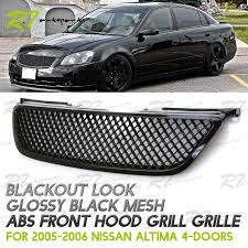nissan altima 2015 updates upgrade for 02 04 nissan altima jdm gloss black 3d mesh front hood