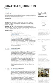Resume Samples For Experienced Mechanical Engineers by Manufacturing Engineer Resume Samples Visualcv Resume Samples