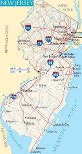 State Map United States by New Jersey State Map