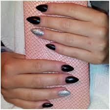 black u0026 silver stiletto nails yelp