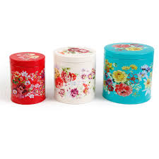 Country Canister Sets For Kitchen Fasttrack The Pioneer Woman Garden Walmart Com