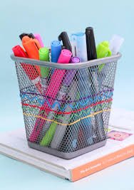 Desk Organization Accessories by Embroidered Pencil Cup The Crafted Life