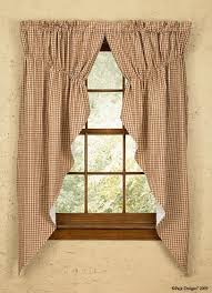 elegant brown curtain ideas at ravishing wooden window design