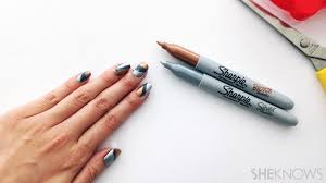 crazy cool nail art you can create with common office supplies