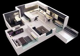 Single Bedroom Apartment Floor Plans by 25 One Bedroom House Apartment Plans
