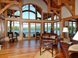 country house living room setting luxury lake homes on mountain
