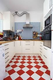 red white kitchen floor tiles film and furniture