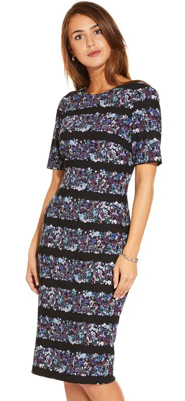 Adrianna Papell Dress Blue Purple