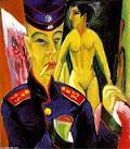 Ernst Ludwig Kirchner - ERNST-LUDWIG-KIRCHNER-SELF-PORTRAIT-AS-A-SOLDIER