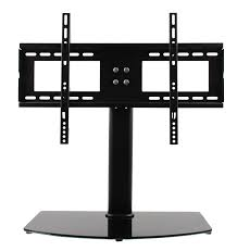 black polished metal tv stand based with screws and black glass