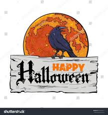antique halloween background old wooden board text happy halloween stock vector 675497611