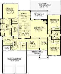 100 open ranch floor plans with basement house plan walkout