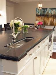 granite countertop kitchen painted cabinets how to cut stainless