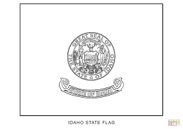 flag of idaho coloring page free printable coloring pages