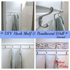 diy towel hook shelf u0026 beadboard wall tutorial
