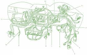 2001 ford mustang dash wiring harness connector diagram