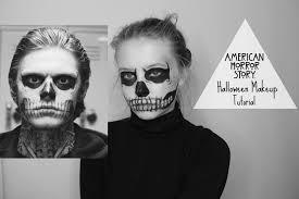 american horror story halloween makeup kate hall youtube