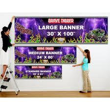 monster truck shows in colorado monster jam grave digger personalized vinyl banner