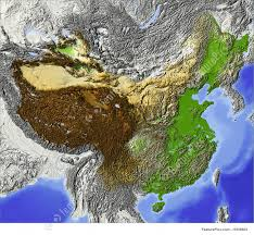 China Topographic Map by Shaded Relief Map Of China Stock Illustration I1659803 At Featurepics