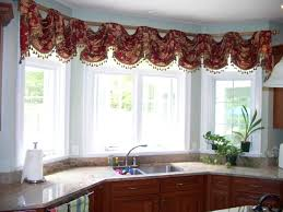 kitchen curtain ideas modern copper valance rods stainless steel