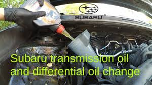 subaru impreza manual transmission and front differential oil