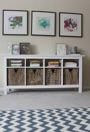 White Entryway Table by Use Hemnes Sofa Table As Media Center Below Wall Mounted Flat
