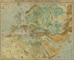 Physical Map Of Africa by Map Of Europe Western Asia And Northern Africa