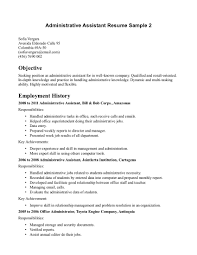 Administrative Secretary Resume Sample by Administrative Secretary Resume Sample Resume For Your Job