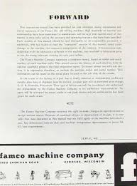 famco model 100 milling machine operator u0026 parts manual ozark