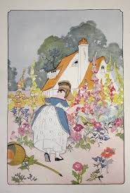 Cottage Garden Book by Vintage Antique 1920s Childrens Book Page By Apaperreverie On Etsy