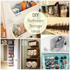 Diy Ideas For Bathroom by Cathey With An E Saturday U0027s Seven Bathroom Organization And