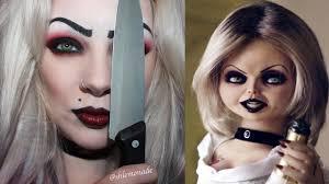 Halloween Barbie Makeup by Halloween Bride Of Chucky Tiffany Makeup Tutorial Shlemonade