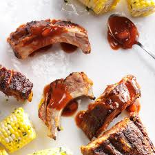 slow cooker peach bbq ribs recipe taste of home