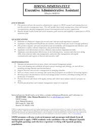 Executive Assistant Job Resume by 100 Resume Templates For Administrative Assistants Resume