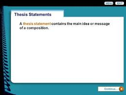 Writing a Thesis Statement Tips and Guidelines for Writing     SlidePlayer
