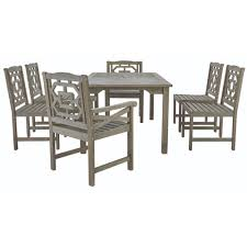 Wood Patio Furniture Sets - martha stewart living blue hill 7 piece all weather eucalyptus
