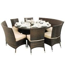 Round Dining Table Sets For 6 Chair Dining Room Round Tables For 6 Or 8 Table People Dohatour