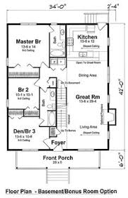 Small Cottage Floor Plan Floor Plan For Affordable 1 100 Sf House With 3 Bedrooms And 2