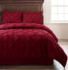 Red King Comforter Sets Comforter Sets King Frame Jacquard Microfiber 5 Piece Full Queen