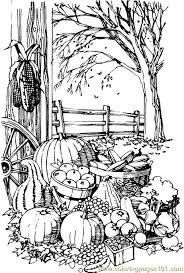 123 fall halloween thanksgiving coloring images