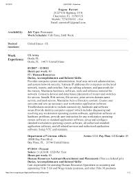 Usajobs Example Resume by Usajobs Resume Template